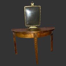 Antique Miniature Dollhouse Gold Metal Standing Frame