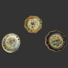 Antique Dollhouse Miniature Enamelware Painted Plates