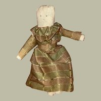 Antique American Folk Art Rolled Cloth Doll
