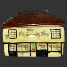 Antique Porcelain Miniature Lidded House