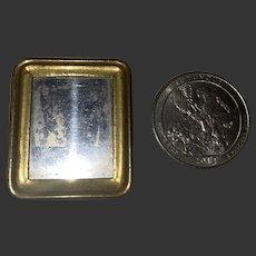 Antique Miniature Gold Gilt Dollhouse Mirror