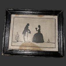 Original Tynietoy Miniature Dollhouse Framed Silhouette