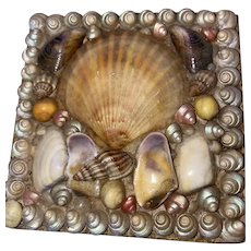 Antique Victorian Sailor Valentine Shell Gift Box