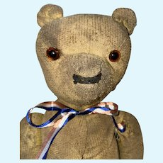 Antique American Jointed Primitive Teddy Bear