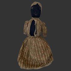 Antique American Folk Art Topsy Turvy Stockinette Doll From Shenandoah Valley Va