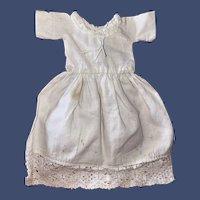 Antique Lace Accent White Cotton Dress
