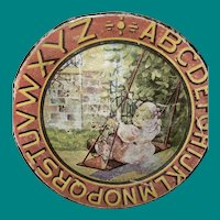 Antique Ohio Art Alphabet Tin Lithograph Childs Plate