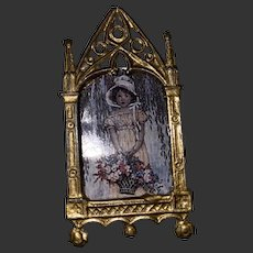 Antique German Miniature Dollhouse Gold Gilt Ornate Frame