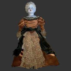 Antique German 19th Century Molded Hair Parian Bisque Doll