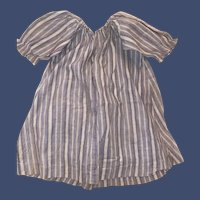 Antique Cotton Pin Striped Doll Dress