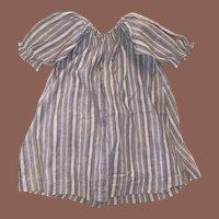 Antique Cotton Pin Striped Doll Dress