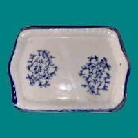 Antique Miniature Transfer Ware Dollhouse Platter