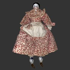 Antique 19th Century China Head Doll With 5 Piece Beautiful Outfit Ensemble