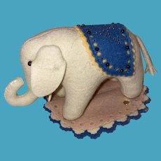Rare Steiff Elephant Center Seam Pin Cushion Pen Wipe
