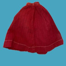Antique Early Turkey Red Doll Skirt