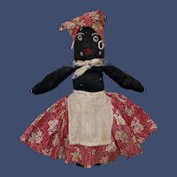 Antique American Folk Art Cloth Sock Doll