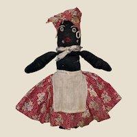 Antique American Folk Art Cloth Sock Doll