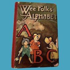 Antique Victorian Nister Rare ABC Wee Folks Alphabet Book