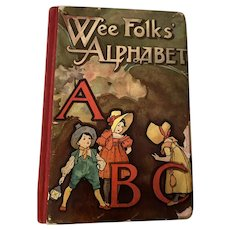 Antique Victorian Nister Rare ABC Wee Folks Alphabet Book