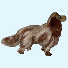 Old Vintage Mohair Wonderful Miniature Long Haired Dachshund