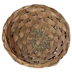 Old Sweet Grass Miniature Round Basket