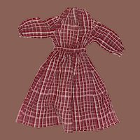 Antique Early Hand Sewn 19th Century Doll Dress
