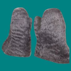Old Native American Inuit Mohair Children's Mittens