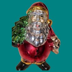 Wonderful Nast Style Bisque Glossy Fired Glaze Santa