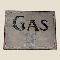 Old Primitive New England Painted Gas Sign