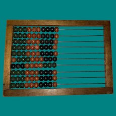 Antique Hand Held Wooden Child's Abacus Learning Toy