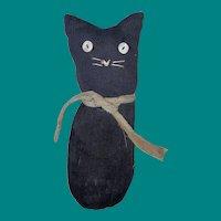 Old American Folk Art Sock Cloth Kitty Cat
