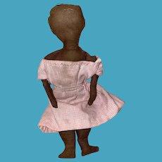"""American Folk Art Cloth Rag Doll 7"""" Tall"""