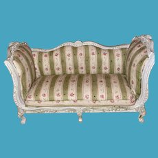Victorian Styled  Upholstered Dollhouse Miniature Sofa