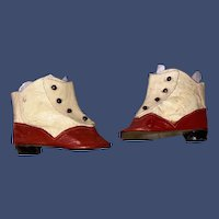 Antique Leather Two Tone Doll Fashion Boot