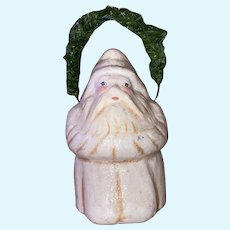 Paper Mache Large Santa Claus Father Christmas Belsnickle Gift Holder With Handle