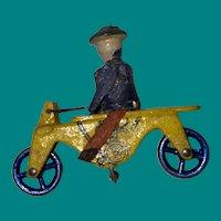Antique Rare German Erzgebirge Motor Cycle Rider