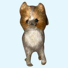 Old Mohair Glass Eye Fox Miniature Animal Fashion Doll Accessory