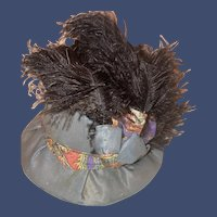 Antique Doll Fancy  Victorian Style Fashion Doll Hat