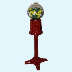 Contemporary Whimsical Miniature Dollhouse Gum Ball Machine