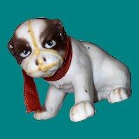 Antique Parian Bisque Miniature English Bulldog