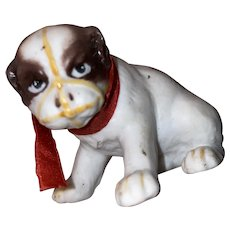 Antique Parian Bisque Miniature English Bulldog
