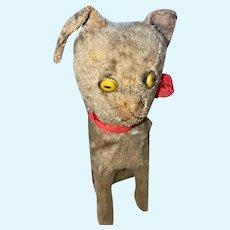 Antique German Helvetic Rare Mohair Musical Bellows Kitty Cat
