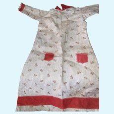 Antique 19th Century Early Calico Doll Dress
