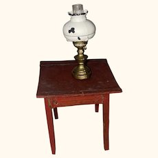 Old Miniature Dollhouse Hurricane Lamp