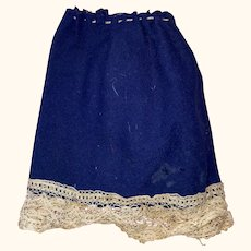 Antique Wool Hand Sewn Doll Skirt