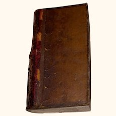 Antique Miniature Doll Size Leather Book