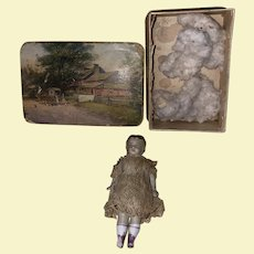 Antique Early Molded Hair Rare Doll As Found