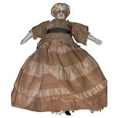 "Antique German 4"" 19th Century Parian Dollhouse Doll"