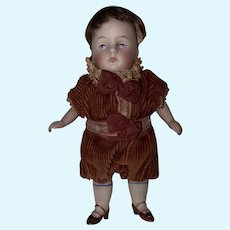 Antique German Kestner All Bisque Chubby Boy Doll