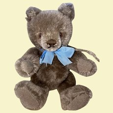 Adorable Mohair Jointed Steiff Cabinet Size Teddy Bear With Tummy Squeaker